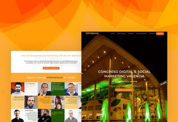 Diseño Landing page Congreso Marketing and Web