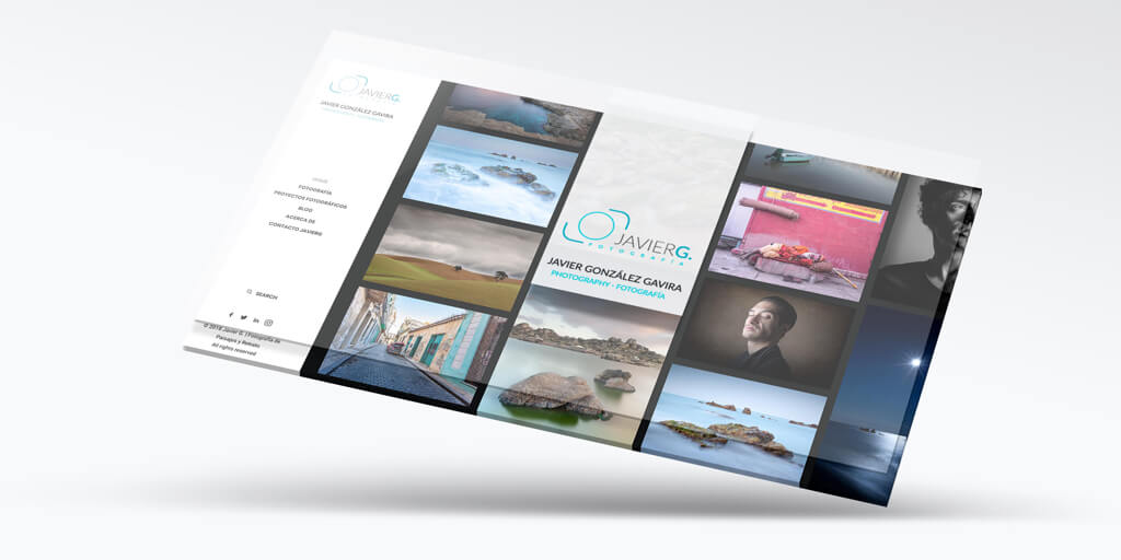 Diseño Web para JavierG Fotografía