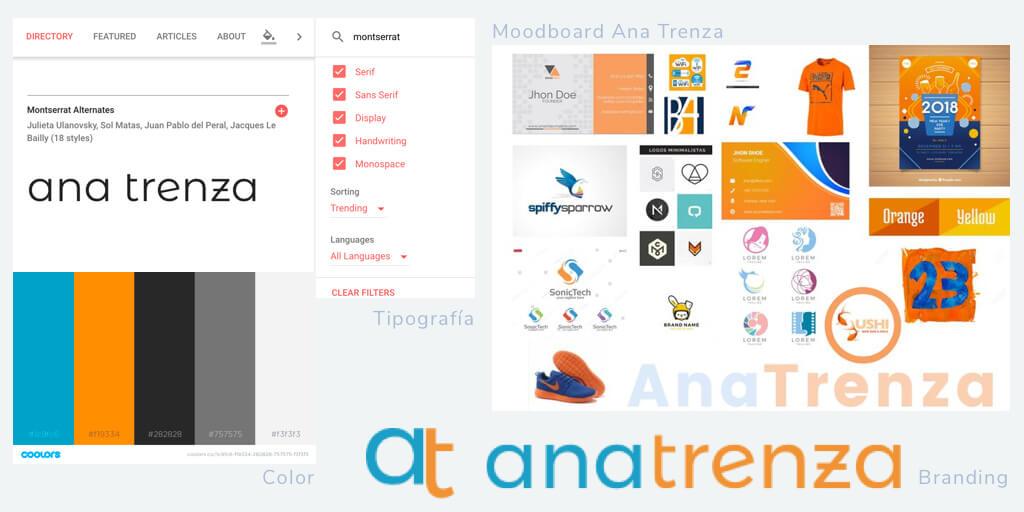 Moodboard online diseño grafico