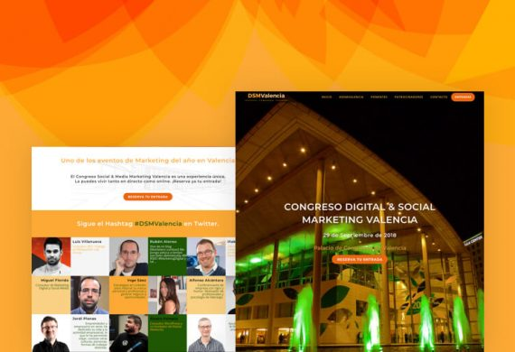 Diseño Landing page Congreso Marketing and Web